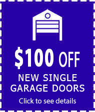 coupon $100 off on single doors
